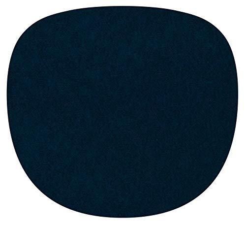 Feltd. Eco Fieltro Edición 4mm Simple - Adecuado para Vitra Eames Sidechair - 30 Colores Incl. Antirutschunterlage - Negro Azul, 40 x 37cm