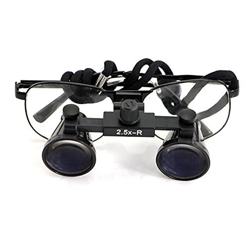 2.5X / 3.5X Lupas binoculares quirúrgicas, Dentist Dental Surgical Medical Binocular Loupes, protección médica Anteojos Gafas, Utilizado en ortopedia, cirugía Oral, oftalmología ✅