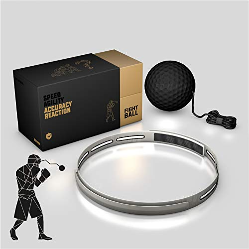 Boxing Reflex Fight Ball Set, with Headband & 2 Complexity Balls, Speed | Agility | Accuracy | Reaction | Simulator, for Boxing, MMA & Fitness