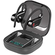 Wireless Earbuds, Bluetooth 5.0 Headphones True Wireless in Ear Sports Earphones with Earhooks, Mini Stereo Running Headset with Charging Case for iPhone Samsung Android & More
