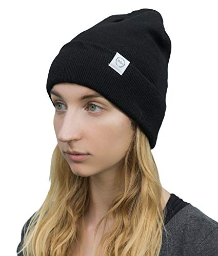 EMF Protection Hat Radiation Blocking Beanie by Halsa. Silver Fabric. High Shielding Efficiency. Blocks Radiation from Cell Phones, WiFi, Smart Meters, Power Lines, Microwaves and More. Black.