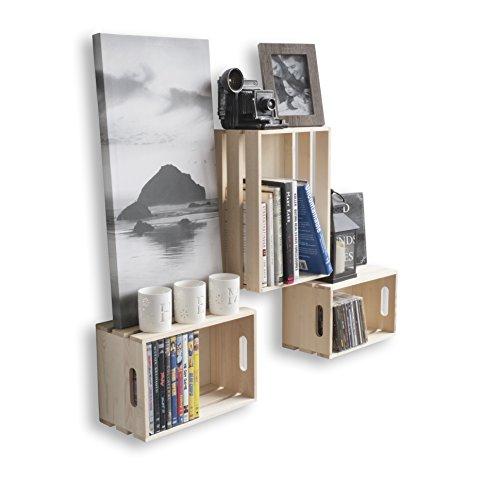 Wallniture Rustic Storage Bin Crates