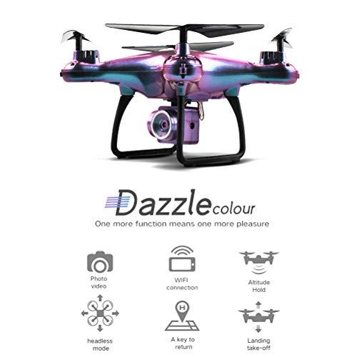 Schimer RC Drone RC Quadrocopter 20 minuten lange batterijduur met LED-lampen, 3D flip koploze modus One Key Start Landing drie snelheidsmodus, beste voor beginners Normale hoogte zonder camera