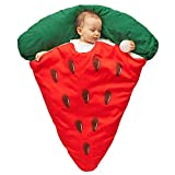 LUO Sacos de Dormir Bebé de Dormir de bebé Engrosado en otoño e Invierno, recién Nacido sandía Pizza Anti-Kick edredón bebé cálido Manta Unisex (Color : Red)