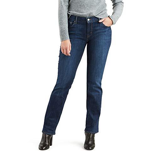 Levi's 505 Straight Jeans Pantalon, Bleu Fin, 27W / 30L Femme
