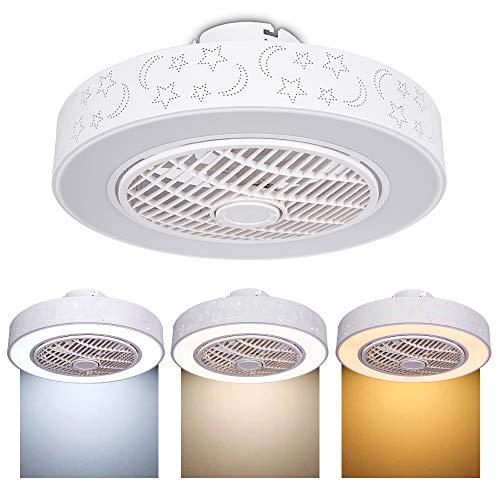 Plafón ventilador de techo LED, regulable, con mando a distancia, creativo, moderno, iluminación decorativa,para dormitorio, oficina, restaurante, salón, iluminación decorativa