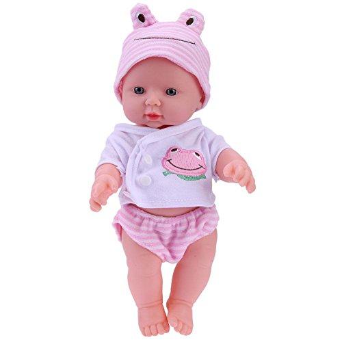 Demiawaking 30cm Bambola Reborn Baby Bambola Neonato Realistica in Vinile Bambolotto Bambino Realistico Giocattolo Regalo per Bambini (Rosa)