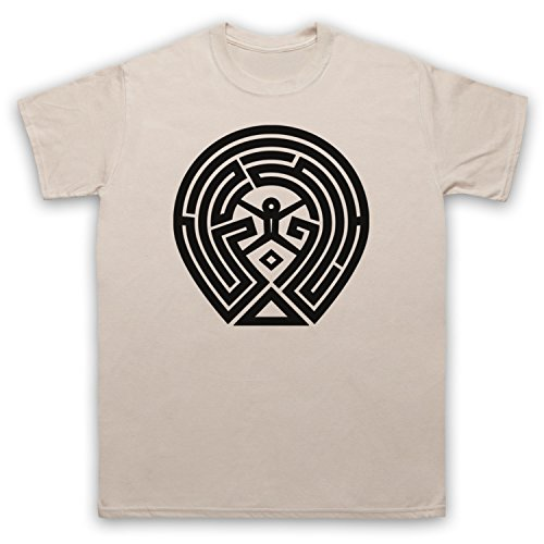 Westworld Maze Map Camiseta para Hombre, Beige, XL