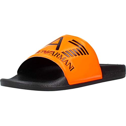 Emporio Armani Herren Flip Flops XCP001 Orange 42 EU