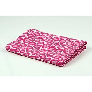 Bacati Ikat Pink Leopard One Swaddling Muslin Blankets