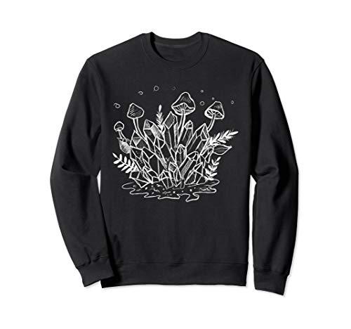 Goth Crystals, Plants, & Mushrooms Forest Witch Sweatshirt