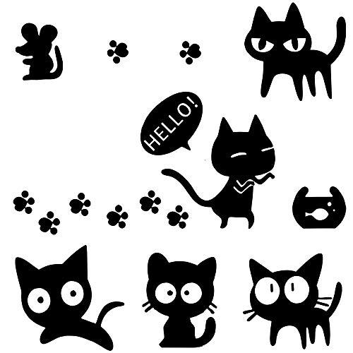 Love Hund Katze Aufkleber Pfote Herz Laptop Sticker Autoaufkleber (eine Gruppe von Katzen)