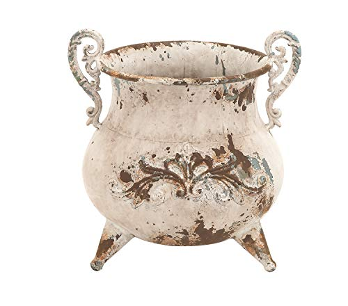 Deco 79 Classy Designed Metal Vase with Rusty Look and Antiqued Charm