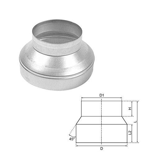 Reduzierstück 125 mm auf 100 mm zur Verjüngung oder Erweiterung von Rohren