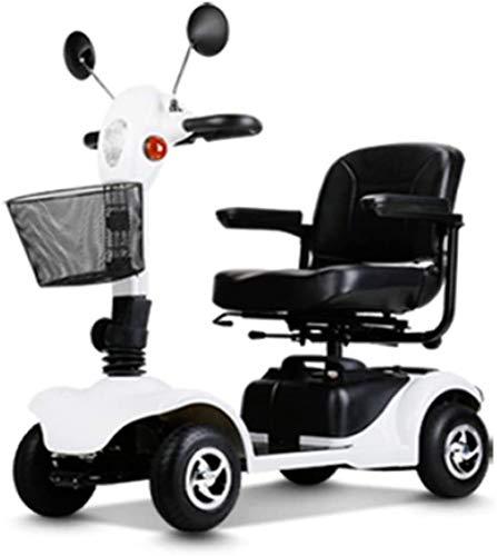 Elektro Mobilitätshilfe/Scooter 4 Wheel Drive mit Beleuchtung Elektroroller for Erwachsene/Senioren/Behinderte Freizeit Scooter Elektro-Rollstuhl Long Range Travel Scooter bis zu 3-10 Km/h, 25