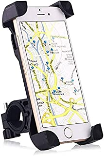 Bike Mount, Universal Cell Phone Bicycle Handlebar & Motorcycle Holder Cradle with 360 Rotate for iPhone 6s 6 5s 5c 5,Sams...