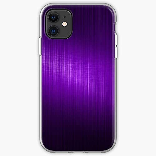 Compatibile con iPhone 12/11 Pro Max 12 mini SE X/XS Max XR 8 7 6 6s Plus Custodie Pattern Slick Metallic Metal Look Plain Simple Aluminum Brushed Purple Custodie per Telefoni Cover
