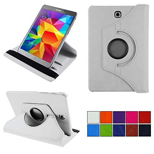 COOVY Funda para Samsung Galaxy Tab S2 8.0 SM-T710 SM-T713 SM-T715 Smart 360º Grados ROTACIÓN Cover Case Protectora Soporte Auto Sueño/Estela | Color Blanco