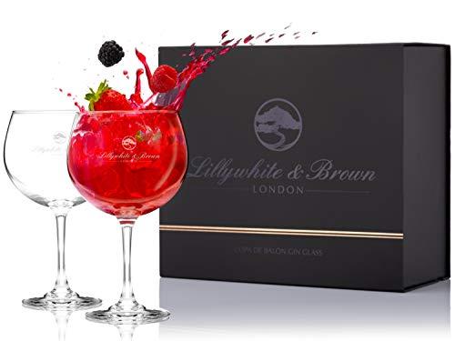 Premium Gin Gläser set von 2 - Großes Cocktail, Wein oder G&T Ballon-Glas (680ml) von Lillywhite & Brown