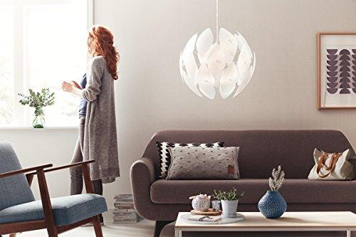 Philips myLiving Pendelleuchte Chiffon, 60 W, Plastik, E27, weiß, 59 x 59 x 52,4 cm, 4093331PN - 4