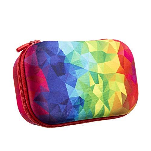 ZIPIT Fresh Colorz Pencil Box/Pencil Case/Storage Box, Kaleidoscope, 8.27' x 5.31' x 2.95' (21 x 13.5 x 7.5 cm)