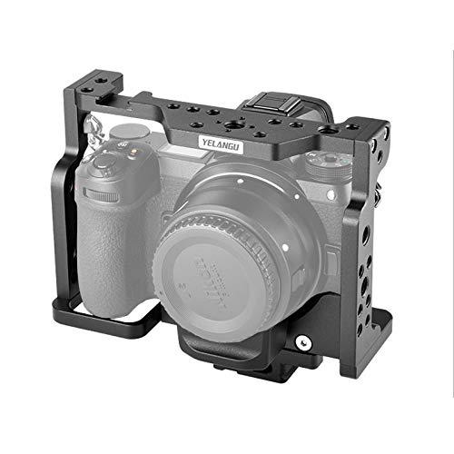 Jaula de la cámara de Z7 / Z7, soporte de cámara con riel deslizante OTAN incorporado y zapato de frío, jaula de lade aluminio con estabilizador para el dispositivo de , adecuado para Nikon Z6 Z7