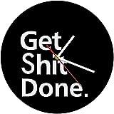 GXY Reloj de Pared Sala de Estar Big Obtener Mierda Hecho Hecho Reloj de Pared Horario Diseña para Sus Parejas Motivacional Vida Life Motome Reloj de la Mercada de la Pared Reloj de la Oficina de la