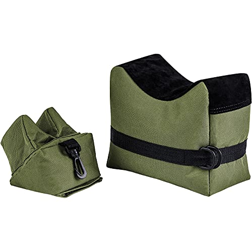 Caysen Outdoor Shooting Rest Bags Target Sports Shooting Bench Rest Front & Rear Support SandBag Stand Holders for Gun Rifle Shooting Hunting Photography - Unfilled