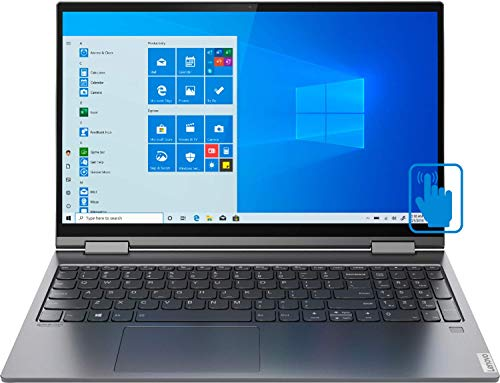 Lenovo Yoga C740-15IML Home and Business Laptop (Intel i5-10210U 4-Core, 12GB RAM, 1TB m.2 SATA SSD, Intel UHD Graphics, 15.6' Touch Full HD (1920x1080), Fingerprint, WiFi, Win 10 Home) (Renewed)