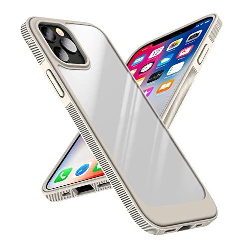 AWJK Carcasa para iPhone 13 Pro MAX con Parte Trasera Mate Translúcida, Protector De Silicona Suave Carcasa Delgada para Protección Resistente,Blanco,for iPhone 13promax