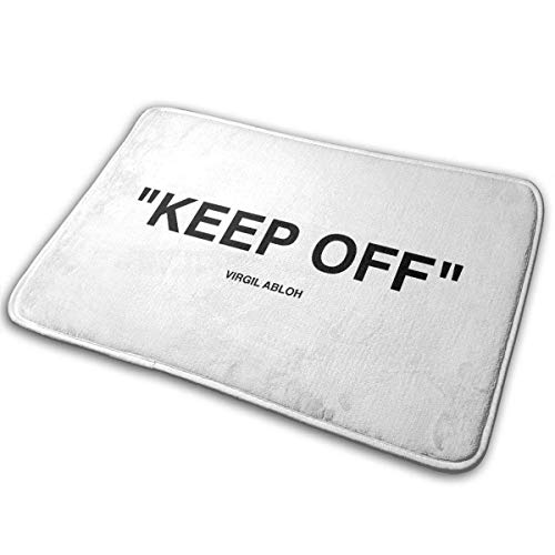 Funny Club Off White IKEA Keep Off Rug Black Welcome Doormat Indoor Outdoor Entrance Rug Floor Mats Shoe Scraper15.7 X 23.5in