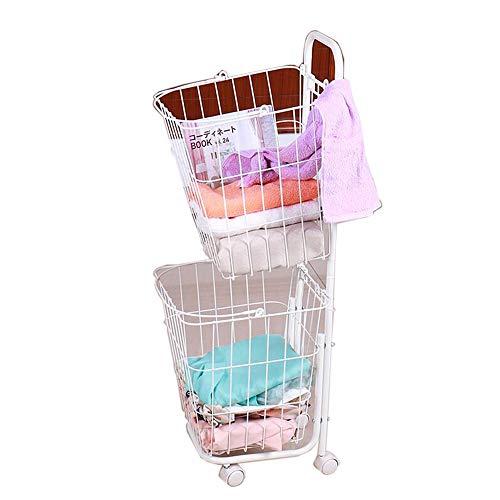 JCNFA-BOEKENPLANK Metalen Rekken, Verwisselbare En Afneembare, Dubbeldekker Wasserette Kar, Handdoek Opslag Rack, Badkamer/Toilet (Color : White, Size : 14.17 * 12.99 * 39.37in)