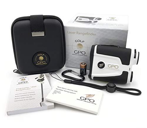 German Precision Optics Flagmaster 1800, Golf Rangefinder Unisex-Adulto, Nero/Bianco, Taglia Unica