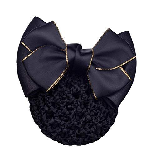 Kinhevao Lady Bow Chignon Net Snood Crochet Net Bun Couverture Cheveux Femme Accessoires Cheveux (Color : Style 1)