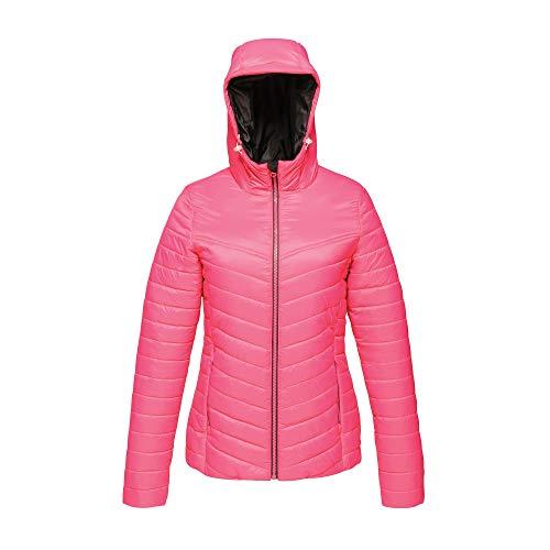 Regatta Acadia II Veste à capuche compressible hydrofuge et chaude pour femme XL Rose vif (noir).