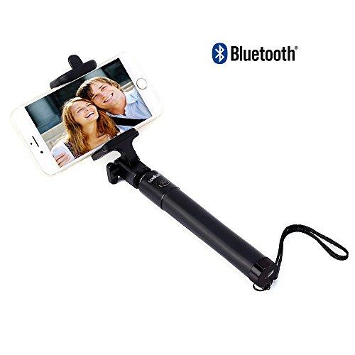 LENOGE Selfie Stick, Bluetooth Monopod con supporto portatelefono sottile e regolabile, adatto per iPhone 7 / 7Plus / 6s / 6Plus / 5S, Galaxy S5 / S6 / S7 / S8, Nexus Google, Huawei, Note 5/4, Nexus 6P, LG G5, Moto X / G e altri modelli.