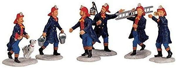 Lemax Village Collection Fireman Set Of 6 02446