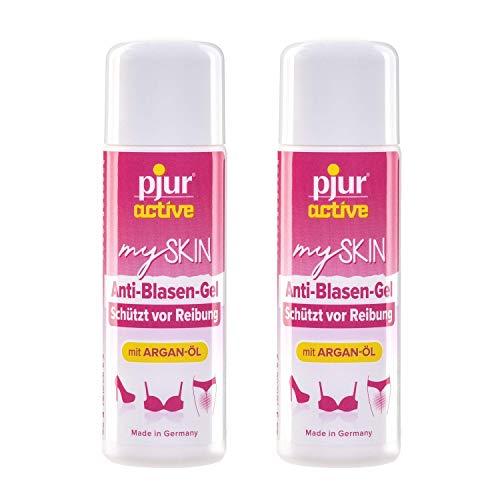 pjuractive mySKIN - Gel protector cutáneo para mujeres - No más ampollas ni rozaduras gracias a la capa protectora invisible - 30ml (pack de 2)