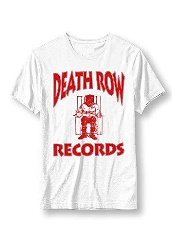 Death Row Records - Record Label Logo (Rot) - Offizielles Herren T-Shirt - Weiß, S