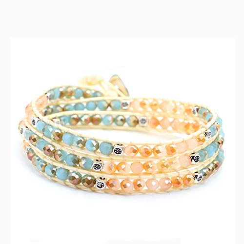 LEERIAN Ladies Bracelets And Necklaces, Foldable Braided Element Bracelets, Exquisite Fashion Decorative Gifts