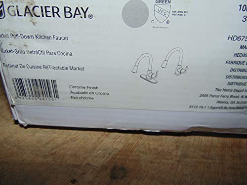 Glacier Bay HD67551-0301 Market Single-Handle Pull-Down Sprayer Faucet, Chrome