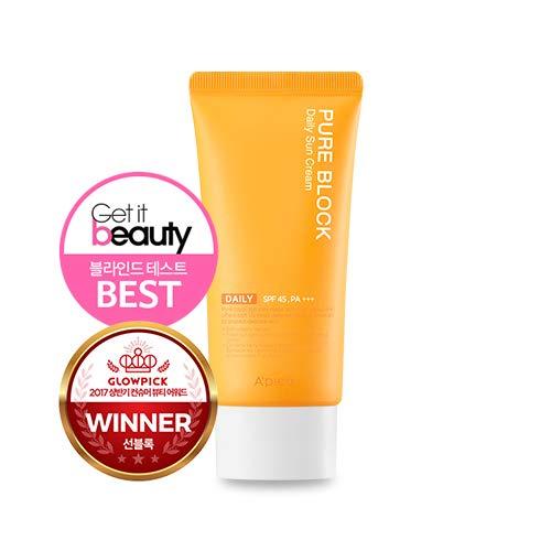 2018 New A'PIEU PURE BLOCK Natural Sun Cream SPF45/PA+++ 50ml, 1.69Oz