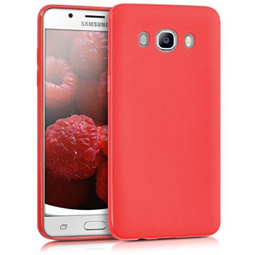 kwmobile Funda para Samsung Galaxy J5 (2016) DUOS - Carcasa de TPU Silicona - Protector Trasero en Rojo Mate