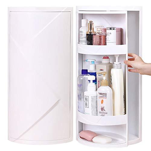 LHn-Cn Beauty Organizer, Make Up Kosmetik Organizer, 360° Drehbar, Schmink Aufbewahrung Kosmetikbox für Dresser Schlafzimmer, großes