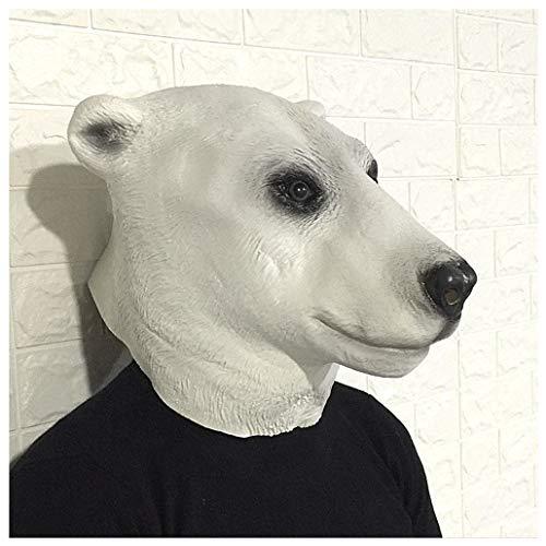 Yingji Orso Polare Maschera Copricapo, Maschera in Lattice Testa di Animale, Costume Party Halloween for Fiochi diRuolo, Carnevale, Partito Decorazione degli Accessori