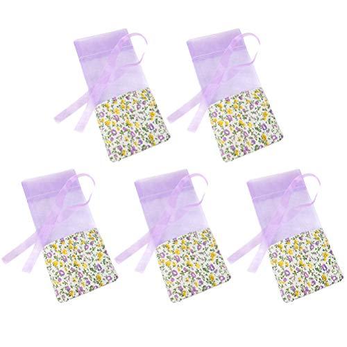 BESTONZON Påse tomma väskor, 10 stycken franska lavenderpåsar påsar bomullspåsar för bröllop kasta, rumsdoft påsar för lådor och byrå