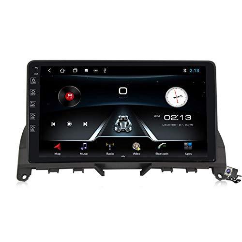 Autoradio Android 9.0 Radio compatibile Mercedes Benz Classe C 3 W204 S204 2006-2011 Navigazione GPS 9 pollici Touch Screen Unità principale Lettore multimediale MP5 Video con 4G WiFi DSP Navigazione