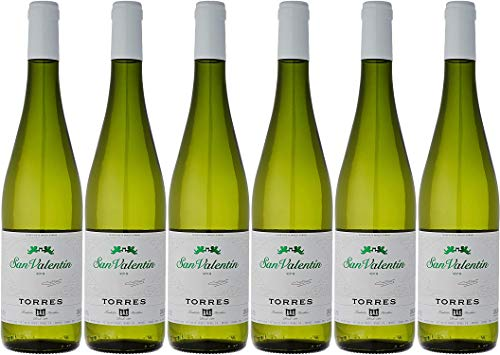 San Valentín, Vino Blanco - 6 botellas de 75 cl, Total: 4500 ml