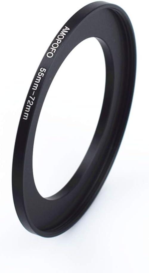 para objetivo de c/ámara con rosca de filtro de 55 mm a anillo de filtro de 67 mm. Anillo adaptador de filtro de metal de 55 mm a 67 mm