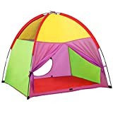 ATDAWN Kids Play Tent, Kids Pop Up Tent, Camping Playground, Indoor/Outdoor Children Playhouse for Boys and Girls, Rainbow Color